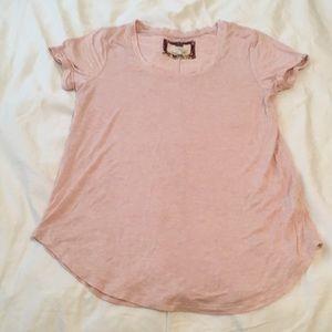 Light pink Cupio cuffed sleeve T-shirt
